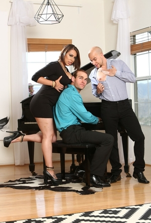 Youthful lady can't stop enjoying piano player and plus tempts him together with hubby