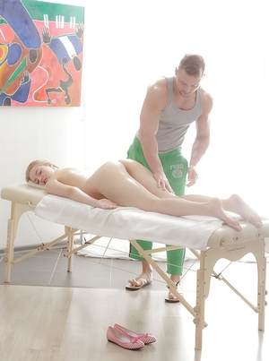 Oral caresses are just preparation for totally hardcore pussy-drilling by masseur